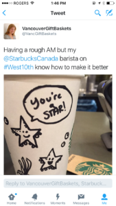 Gratitude to Starbucks Barista