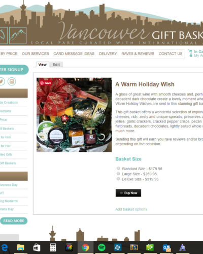 New Gift Basket Options Veribage