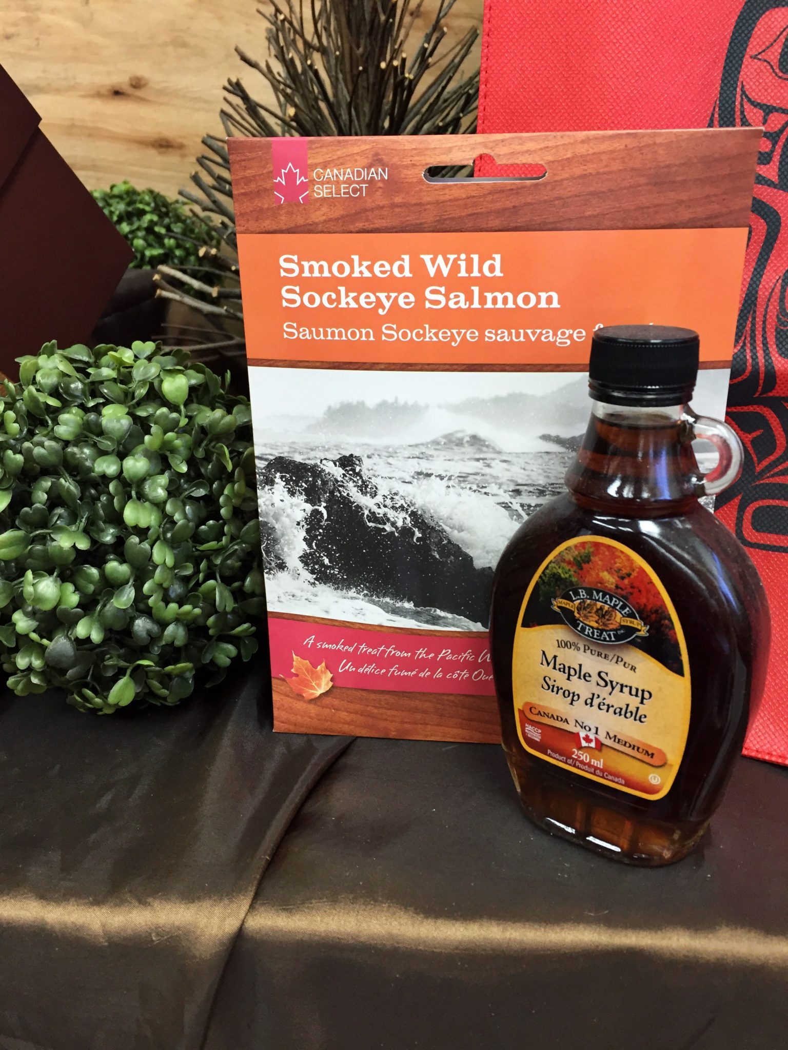 BC's Smoked Sockeye Salmon and Maple Syrup Gift Basket