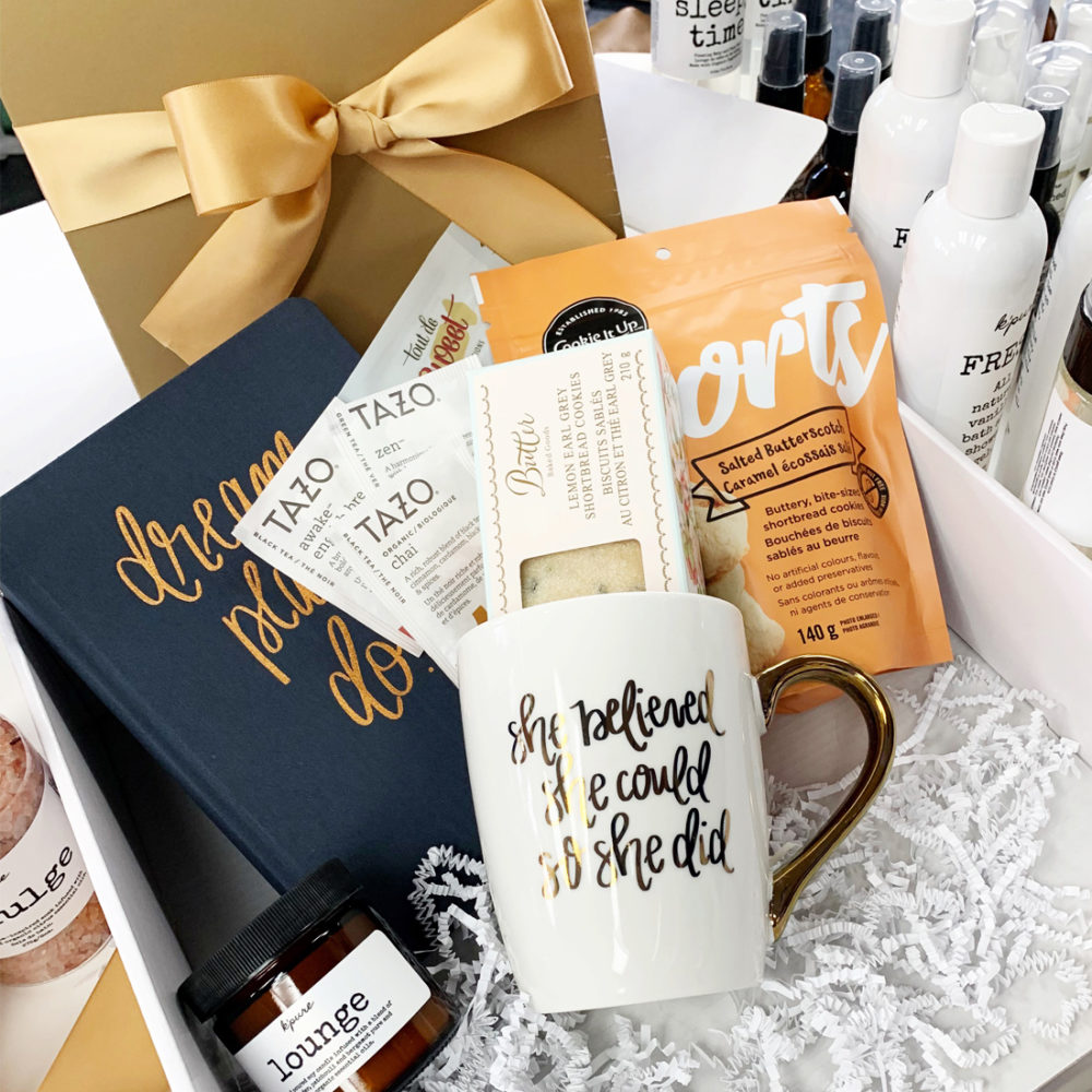 Golden Gift Box by Vancouver Gift Baskets