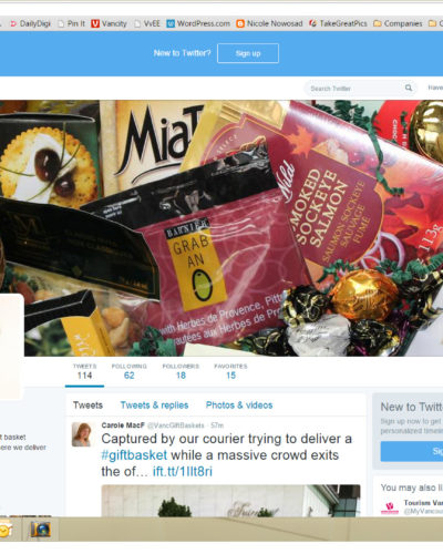 Vancouver Gift Baskets TwitterProfile